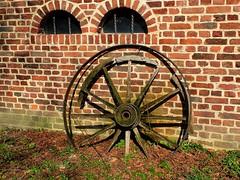 An old spoked wheel (libra1054) Tags: rad wheel ruota roue rueda roda 7dwf decayabandoned crazytuesdaytheme outdoor