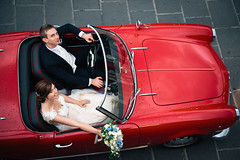 Red passion ( Peppedam -www.glam.vision) Tags: wedding wwwglamvision spider love married wife husband sicily nikon car giulietta alfaromeo