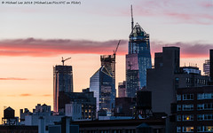 Hudson Yards Sunset (20180706-DSC01517) (Michael.Lee.Pics.NYC) Tags: newyork hudsonyards sunset construction architecture cityscape skyline reflection sony a7rm2 fe70300mmg