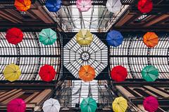 You can stand under my umbrella, ella, ella, eh, eh, eh (FButzi) Tags: genova genoa liguria italy italia galleria mazzini umbrella ombrelli colored colors geometry