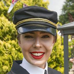 IMG_0277 - Lucy (David-Hall) Tags: woodhallspa 1940s woman lucy 2018 cap uniform