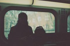 Riding The Metra (Jovan Jimenez) Tags: canon eos elan 7ne ef 50mm f18 stm kodak ektachrome 320 expired film metra train girl riding grain analog analogue underexposed 7s 30v 33v people metro streetphotography