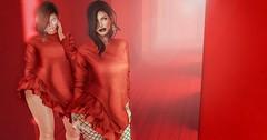 ladies in red (Naria Panthar) Tags: secondlife sl tetra catwa insol elikatira