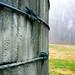 Old concrete grain silo