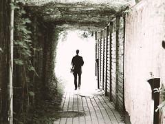 vers la lumière (photosgabrielle) Tags: photosgabrielle urban urbain sepia people nature petitebourgogne poesie poetry montreal lumière light tunnel