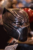 Black Panther Mask (rikioscamera) Tags: anaheim anaheimconventioncenter conventionevents costume wondercon wondercon2018 d750 lightroom mask nikon marvel marvelcomics wakanda blackpanther tchaka