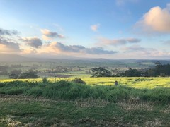 Country sprawl (Emma:king) Tags: goldenhour church churchgrounds farms field darkgreen green layers beginner exposed horizon greyclouds bluesky clouds mountains hills iphone sunset nsw newsouthwales australia citytocountry country holiday