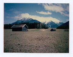 Landscape of the Alps (taut.ioana) Tags: polaroidweek springpolaroidweek roidweek roidweek2018 polaroidweek2018 polaroidlove polaroid350 landcamera fujifp expired expiredfilm fp100c instantphotography instantfilm tautuniques originalpolaroid colouredphotography sheshootsfilm ishootfilm polavoid hylasmag polaroidoftheday heyfsc nature outdoor alps tirol snow sky mountain forest road trees