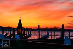 Venice Orange Sunrise (fentonphotography) Tags: venice italy sunrise orangesky gondola boats landscape seascape vacation destination water bacinosanmarco