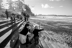 Manly Beach, Sydney, winter 2018  #584 (lynnb's snaps) Tags: 2018 35mm cv21mmf4ltm leicaiiic bw film street people manly leicafilmphotography winter agfaapx100 kodakxtoldeveloper blackandwhite bianconegro bianconero blackwhite biancoenero noiretblanc schwarzweis monochrome ishootfilm sydney australia beach manlybeach family child contrejour sunshine sunny ©copyright2018lynnburdekin ©copyrightlynnburdekinallrightsreserved filmfilmforever