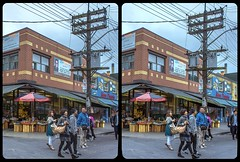 Tokyo or Toronto ? 3-D / CrossView / Stereoscopy / HDRaw (Stereotron) Tags: toronto to tdot hogtown thequeencity thebigsmoke torontonian downtown streetphotography urban citylife north america canada province ontario cross eye view xview crosseye pair free sidebyside sbs kreuzblick bildpaar 3d photo image stereo spatial stereophoto stereophotography stereoscopic stereoscopy stereotron threedimensional stereoview stereophotomaker photography picture raumbild twin canon eos 550d remote control synchron kitlens 1855mm 100v10f tonemapping hdr hdri raw