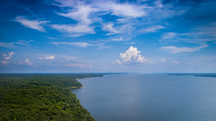 Land between the Lakes.  Kentucky, USA (Camelot Photography Minnesota) Tags: land between lakes drone aerial lake river trees clouds blue sky travel kentucky landscape