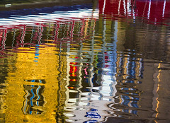 Reflections of Skipton (snowyturner) Tags: skipton canal reflections yorkshire dales boats buildings colours abstract artistic ripples evening summer water