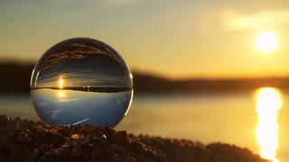 Golden Hour Lensball Sunset