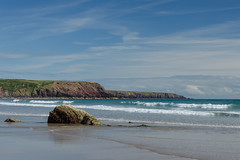 Marloes beach (mikeplonk) Tags: pembrokeshire westwales wales marloes rocks beach sea seascape tide waves sand nikon d5100 18140mm kitlens nationaltrust water