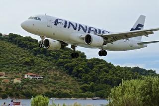 JSI/LGSK: Finnair Airbus A320-214 OH-LXM