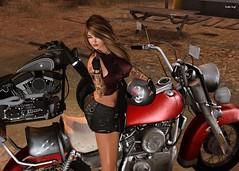 Take a picture, it'll last longer buddy (Scottie Leigh ~ Eviternity Photography ~) Tags: bike chic sexy secondlife sl attitude catwa maitreya exxess mooh blueberry frimon