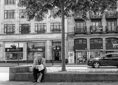 Contemplation (dlsmith) Tags: greggs pasty man candid stphotographia stphotografia leeds blackwhite monochromatic monochrome byn bw