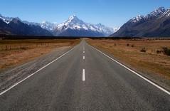 Road to Mount Cook (Damien Borel) Tags: snowy mountains snow road tavel newzealand mountcook aoraki nationalpark landscape damienborel boblastic