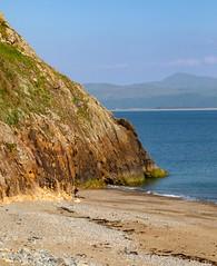 Criccieth beach (west), North Wales. UK (2.4 mil views - Thank you all.) Tags: criccieth wales unitedkingdom gb united kingdom uk staneastwood stanleyeastwood beach coast rock hill mountain