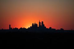 Sunsets Behind Phiadelphia Skyline (Brian E Kushner) Tags: philadelphia skyline philadelphiaskyline haddon township new jersey night photography cityscape ©brianekushner nikon d850 nikond850 nikon70200mmf28 70200mm f28 nikor