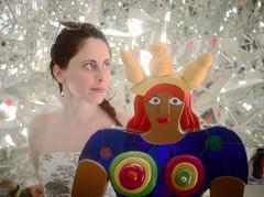 4284 - The Queen and the Fairy (Diego Rosato) Tags: queen fairy fata regina parco park garden giardino tarocchi tarots fuji x30 rawtherapee glitters riflessi gimp