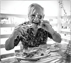 You Are My! (Steve Lundqvist) Tags: teramo italy italia italiano shot elderly monocromo persone man monochrome candid aged age people blackandwhite bw character personaggio snap art bruce gilden world outside leica q eating food eat hungry seafood shrimp portrait sunglasses rayban local restaurant italians lobster