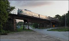 Silver Solarium (Justin Hardecopf) Tags: amtk amtrak cbq chicagoburlingtonquincy silverrapids silversolarium dome observation tail passenger car californiazephyr 6 omaha nebraska railroad train