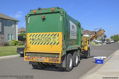 Peterbilt 320 - Labrie Automizer Garbage Truck (Thrash 'N' Trash Prodcutions) Tags: garbage trash refuse truck recycle recycling trucks labrie automizer righthand asl automated side load loader labrieenvirogroup peterbilt 320 lcf lowcabforward paccar wm wastemanagement green rubbish sanitation disposal waste collection vehicle kennewick washington cart bin can toter dumpster container trashmonkey22 thrashntrashproductions