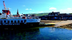 Scotland West Coast the car ferry Loch Riddon leaving Largs for the island of Cumbrae video 24 June 2018 by Anne MacKay (Anne MacKay images of interest & wonder) Tags: scotland west coast car ferry loch riddon leaving largs for island cumbrae 24 june 2018 video by anne mackay caledonian macbrayne calmac slipway town buildings