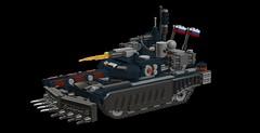 t90ms futuristic tank version1 (demitriusgaouette9991) Tags: lego military army ldd armored railgun russian tank turret powerful future vehicle cannon deadly
