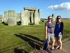 Edita and Bernadeta at Stonehenge (markhorrell) Tags: britain walking stonehenge wiltshire antiquities
