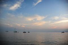 Hanlan's point beach (E N Z) Tags: hanlans point beach toronto canada nikon d700 evening sunset skyline horizon boats