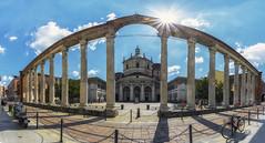 Costantino e il colonnato (forastico) Tags: forastico d7100 milano lombardia costantino imperatore colonne colonnato slorenzo basilica basilicadislorenzo
