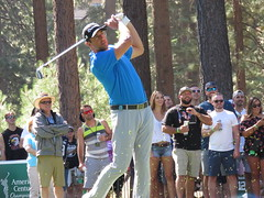 Aaron Rodgers teeing off on the 7th hole (vpking) Tags: celebritygolf americancentury tahoesouth edgewoodgolfcourse southlaketahoe greenbaypackers californiagoldenbears