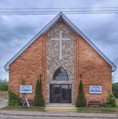 Lion's Head United and St Marks Church (Paul Van Damme) Tags: bruce peninsula lionshead church united catholic ontaio fuji x100