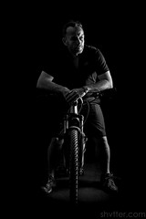 Self (#Weybridge Photographer) Tags: man self selfie studio portrait adobe lightroom canon eos dslr slr 5d mk ii monochrome mkii mountain bike biking cycling specialized camber low key ride rider