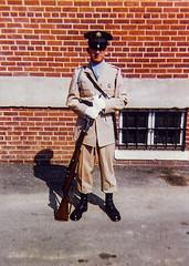 1962-1963-Gary Rogers-Charlie Company-1st Battle Group-06 (Old Guard History) Tags: 1962 1963 1stbattlegroup companyc fortmyer bluescarf khaki uniform
