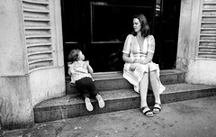 The bond (Howard Yang Photography) Tags: london streetphotography candid mother bw leicam