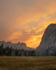 Yosemite Wildfire Sunset (kieran_metcalfe) Tags: fireinthesky 80d summer wildfire landscape formatthitech yosemitenationalpark nature yosemitevalley yosemite sky 3leggedthing canon smoke cloud firecrest