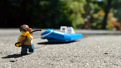 All dried up (199/365) (robjvale) Tags: nikon d3200 adventurerjoe lego project365 boat rope pull drying sun shadows work effort tired annoying frustrating