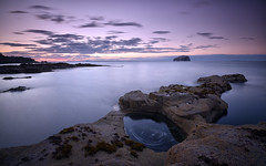 """Sinkhole stories..."" (RF-Edin) Tags: castle longexposure sunset rocks sea sky"
