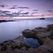 """Sinkhole stories..."" (RF-Edin) Tags: castle longexposure sunset rocks sea sky"