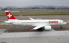 Swiss Bombardier CS 300 HB-JCB / ZRH (RuWe71) Tags: swiss swissinternationalairlinesltd lxswr euroswiss swissglobalairlines switzerland swissconfederation bombardier bombardierbd500cseries bd5001a11 bombardiercseriescs300 cs300 bombardiercs300 airbusa220 airbusa220300 airbusa220371 a220 a220300 hbjcb cn55011 cfpbq zurichairport zurichkloten zürichkloten zürichklotenairport zurichklotenairport flughafenzürich zrh lszh narrowbody twinjet runway winglets snow greysky lufthansagroup