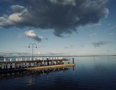 Winter on the Peninsula. (petebond_au) Tags: cold evening water ocean bay westernport marina pier peninsula mornington winter clouds