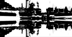 City on the Edge of Reality (byzantiumbooks) Tags: werehere hereios silhouette flipped bw