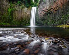 Abiqua's Amphitheater (JG_photo) Tags: abiqua abiquafalls rocks water waterfall pool flow green orange yellow
