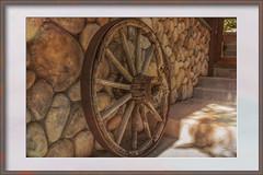 """Abandoned wheel- """"copyright by mankind""""-Smile on Saturday (Karon Elliott Edleson-Away for a week) Tags: wagonwheel rotted wheel antique vintage 7dwf abandonedordecayed crazytuesdaytheme smileonsaturday copyrightbymankind awe artisticwomenofdistinction neutral"""