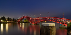 Python (zsnajorrah) Tags: urban architecture architecturephotography bridge water reflection city bollard evening sky night nightphotography bluehour longexposure neutraldensityfilter nd tiffen gradnd manfrotto redged canon 7dmarkii efs1018mm netherlands amsterdam zeeburg amsterdamoost borneo sporenburg pythonbrug python spoorwegbassin ij stuurmankade explore