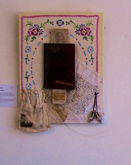 """The author"" (scrappy annie) Tags: textileart textileartist fiberart fibreart fiberartist mixedmedia bookart bookartist"